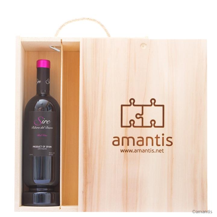 Caja de madera, vino y lo que tú quieras | Amantis