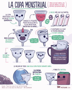 La copa menstrual por Pictoline
