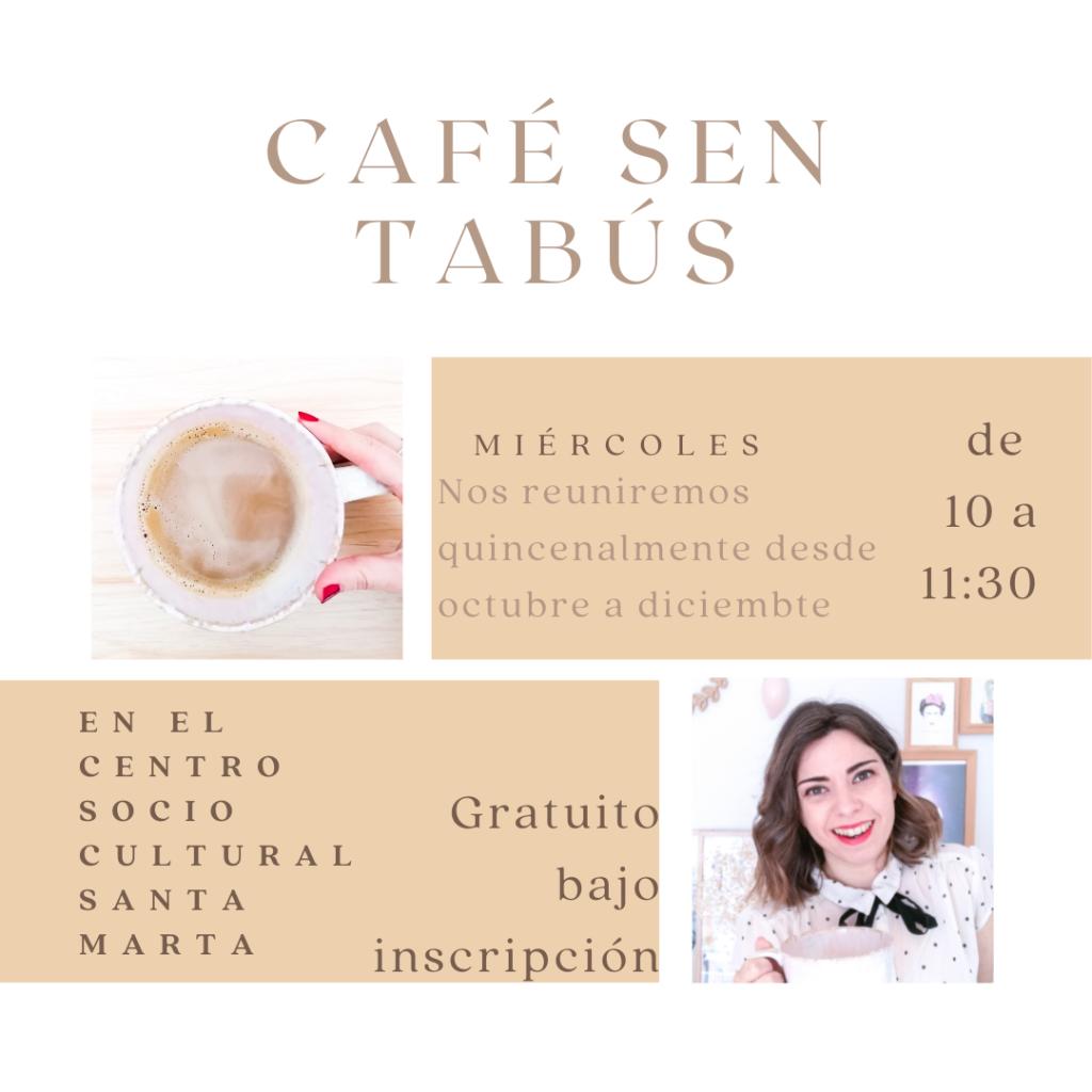 Café sen tabús, espacio para mujeres en Santiago de Compostela